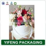 Luxury fancy material decorative top quality custom logo round flower gift box