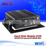 WIFI Mdvr 4CH BUS Hard Disk vehicle mobile dvr with Support PC and iPhone ,Android Phone Monitor