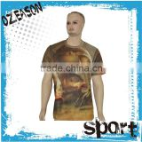Man original printed t-shirt all over sublimation printing t-shirt,full-size printing t-shirt