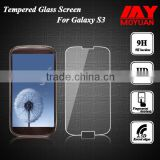 2015 new products Manufacturer scratch resistant tempered glass screen protector for samsung s3