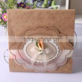 New Arrival Embossing Brown Craft Paper Card Wedding Invitation                                                                         Quality Choice