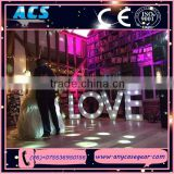 ACS giant led LOVE letters wedding