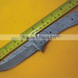 "udk b55"" custom handmade Damascus hunting full tang blank blade knife with Damascus booster"