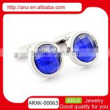 stones for clothes decoration 2014 blue stone cufflink souvenirs for men