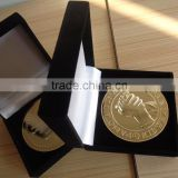 """PAMOJA TUNA WEZA"" Gold Zamak Kenya Coin Packaged in Velvet Gift Box"