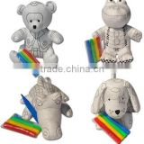 "8"" tyvek educational DIY drawing toy for kids/Bear Plush Toy with 4pcs markers-DIY Drawing Toy"