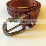 2015 Guangzhou Fashion Women Genuine Leather Belts Fastener Wholesale Leather Belt Strap
