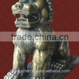 Bronze brass lion sculpture