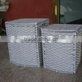 2015 wholesale woven grey laundry basket with lid paper boxes dirty clothes                                                                                                         Supplier's Choice