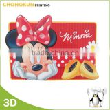 Disney Authorization Factory make 3d lenticular printed recycled plastic placemats