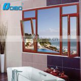 Aluminum glass door and window frame/wood grain finish aluminum window/commercial aluminum window frames                                                                         Quality Choice