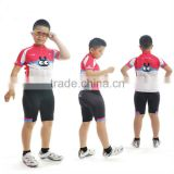 2014 young boys bicycle clothes bike jersey with bib shorts quick dry breathable oborand