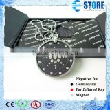 Japanese Quantum Energy Pendant Quantum Value Pendant Lava Rock Pendant with Metal Circle