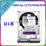 "Original Brand 3.5"" SATA HDD for nvr, cctv or DVR use refurbished status hard disk 6tb"
