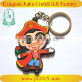 Fashion Cheapest custom pvc rubber keychains