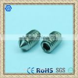 Custom High Precision Stainless Steel Hex Socket Set Screw Manufacture                                                                         Quality Choice