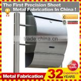 2014 modern wall mounted OEM High Quality wall mounted stainless steel mailbox for sale