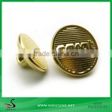 Sinicline gold color embossed logo metal jeans button                                                                         Quality Choice