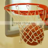 Breakaway basketball ring with solid steel