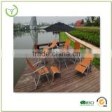 Hot sale garden outdoor cheap 10 pieces folding table and chair sun loungers UK set