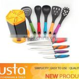 11pcs china top ten selling products in alibaba set of kitchen knives+nylon kitchen tools