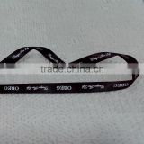 Black double sided faced polyester satin ribbon with logo name printing customer brand name