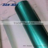 High stretchable PVC self-adhesive green Chrome pearl 3D water transfer carbon fiber vinyl film