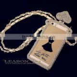 3D Handmade Clear Bling perfume bottle Crystal Rhinestone Diamond Skin Case Cover For iPhone 5 5g