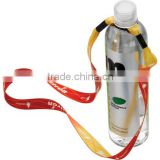 "3/4"" Recycled PET Dye-Sublimated Water Bottle Shoulder Strap with Expandable Rubber O-Ring"