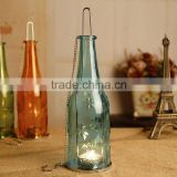 European zakka glass candle holder glass bottle home decoration printing wedding festival