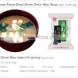 Japan AMANO FOODS Freeze-Dried Miso Soup (Green Onion Taste,naganegi soup)
