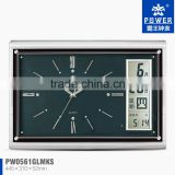 classical music LCD wall clock,PW0561 clocks with spraying paint processing