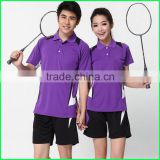 2015 women custom sublimation badminton uniform new design top quality badminton shorts and jersey