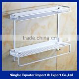 Best Selling Products China Supplier 2 layers Wall Mounted holder for household/bathroom storage rack 12cm-wide