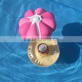 lovely pink umbrella cup holder inflatable pool drink holder decoration