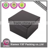 Black paper box packaging with rivet