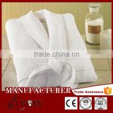 Top Quality Soft 100% cotton wholesale kimono waffle bathrobe, White Waffle Spa Robe Unisex Cotton Robe