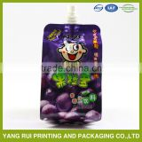 custom printed food grade material bag pouch clear drink stand up spout pouch / stand up spout bags