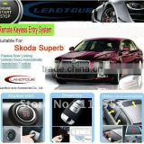 Car alarm- RFID Smart Key System with Engine start/stop button and Remote engine start for Skoda