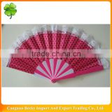 Lace plastic Folding Polka Dot hand fan
