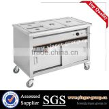 Restaurant Stainless Steel Kitchen Equipment 4 Pan Buffet Bain Marie (food warmer)/bain marie