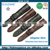 FS FLOWER - Luxury Alligator Skin Strap Bamboo Texture Width 20-18 mm