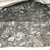 Screw gasket flat washer iron white silver plating