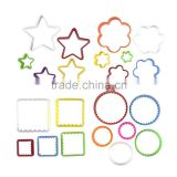 Cookie cutter Plastic Bpa-free Multi-size Vibrant Colors Shapes Cookie Fruit Vegetable Cake Tofu Cutter, Biscuit Cutter
