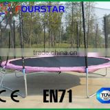 trampolline/ outdoor fitness exercise equipment, gymnastic trampoline with enclosure and ladder,SX-FT(E)