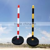 column road traffic reflective flexible delineator plastic bollard warning post