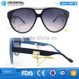 Pure white in Middle Transparent Blue Inside Acetate Frame with Hollow Out Temples Cat.3 Polarized Sunglasses