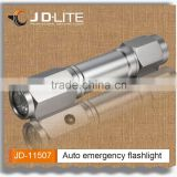 8 LED Emergency light flashlight with Auto Rescue Seatbelt Cutter, Car Glass Breaking Window Hammer