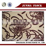 China Manufacturer Textile New design cobweb Flock on Flock Fabric, Covering Sofa Cushions