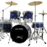 High-grade lacquer drum set with classic renenable copper lugs